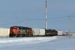 CN 5524 & 6008 switching on the Fort Saskatchewan Industrial Lead