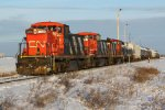 CN 1409, 1402 & 1423 switching at CN's Scotford Yard
