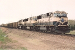 Coal empties roll west