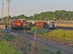 CN 7032 & truck train