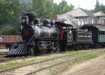 EYP 107 Waits its next run at the station, Fort Edmonton Park