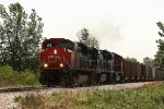 CN 8839, northbound loaded coal train