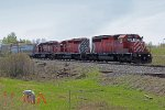 CP 5872, 5973, 6608 on CN's Camrose Sub bring the CP transfer to Clover Bar Yard.
