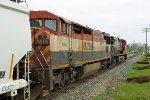 CN 2603 & BC 4614 approach Bretville Junction at Clover Bar