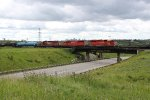 CP 5960, 9004 and 6003 bring a transfer off CN's Camrose Sub at Bretville Junction