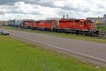 CP 5960, 9004 and 6003 take the yard track into CN's Clover Bar Yard
