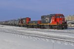 CN 7503, slug 206 and CN 7239 switching at the east end of Clover Bar Yard