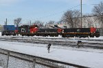 CN 7207 with slugs 202 and 251 and HBU-4 503 idle at Walker Yard