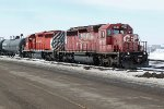 CP 5841 and 5973 bring a transfer into CN's Clover Bar Yard