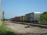 CSX O708-30 setting out empties in Yeoman Yard