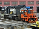 NS GP38AC's await work at Juniata