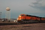 BNSF 5831, GE ES44AC, New locomotive westbound empties at dusk