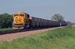 BNSF 8954, EMD SD70MAC, works coal empties westbound