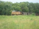 UP 6676 DPU on westbound UP empty coal train
