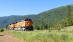 BNSF 4861 passing the 'barn'