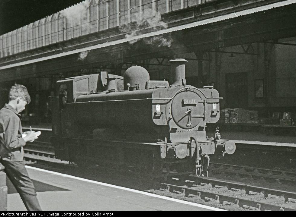 GWR 5700 class 0-6-0PT 4610 at Exeter St. Davids