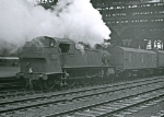 GWR 5101 class 2-6-2T (Prairie Tank) 4155 on a parcels train at Snow Hill Station