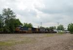 CSX 5209 leads intermodal train Q153 westbound