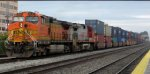BNSF 5516 and 753 (Fakebonnet) on the BNSF Doublestacks