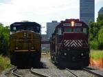 CSXT ES40DC 5230 & HLCX GP38-2 3837