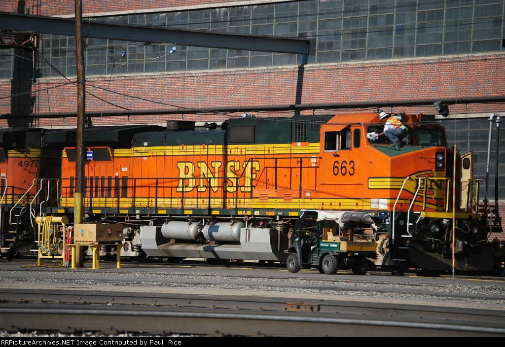 BNSF 663 In For Service