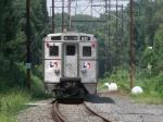 The SEPTA Wire Train At Cynwyd