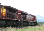 CP 8744 westbound from Coleman, Alberta, July 27 2010