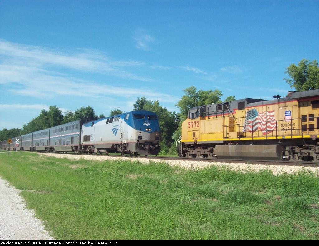 Amtrak passes Union Pacific