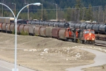 CN 2254 and 8889 enter Jasper yard with a westbound grain train