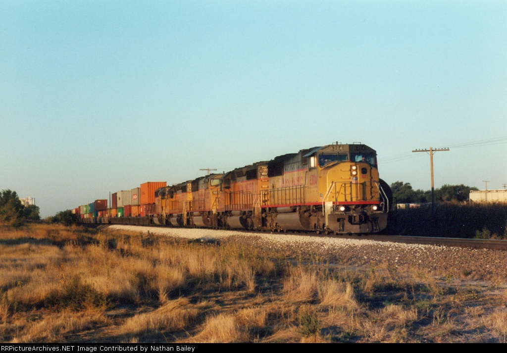 Eastbound UP Stack Train