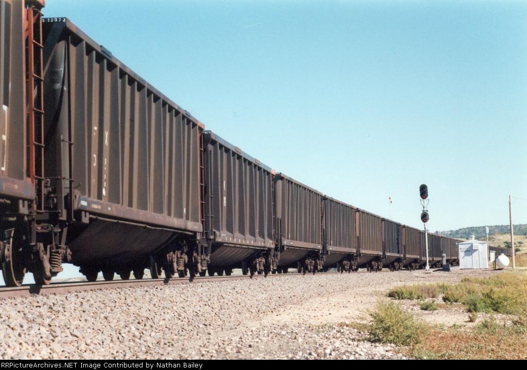 Northbound empty coal