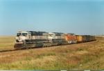 Southbound coal train entering Texas