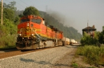 BNSF 4973 passing Beck tower