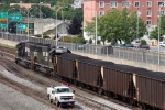 Eastbound PP&L Coal Train and an NS High Rail truck at Altoona