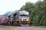 A stack train with NS 7669 leading the way at Lilly