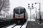 NJT 5524 heads west through BROOK int in the height of the blizzard