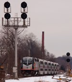 After only picking up two passengers, NJT 5520 departs heading west to Newark, NJ