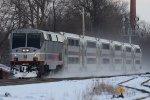 An NJT P40DC arrives at Bound Brook