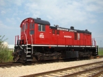 Burlington Jct Ry ex CN Alco. Cant remember the actual model designation but really like a T6 under the hood.
