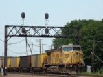 DP power UP 6606 headding WB on the mty coal train