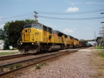 Right after the EB coal cleared WB freight with UP 8196 on the point getting ready to pund the Rochelle diamonds.