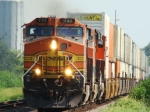 WB stack train with former SF 745. This was one of the first 2 700 series locomotives to be painted into BNSF colors.