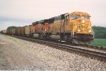 Eastbound loaded coal train