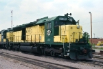 C&NW 6000, SDCAT, 6000-HP Caterpillar prime mover, sits at the Proviso Yard