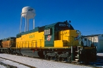 C&NW 6656, EMD SD38-2, posing at the water tower and wearing a fresh coat of paint at Proviso Yard