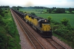 C&NW 7022 - 8013, EMD SD50, SD60, work a rare westbound CSX coal train