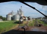 Rolling past the feedmill as we head north to Toccoa