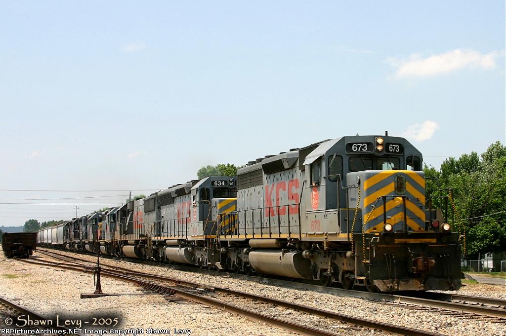 KCS SD40-3 673