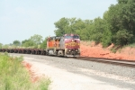 BNSF 623 leads a empty coil train