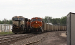 BNSF 9873 East DPU meets BNSF 9549 West